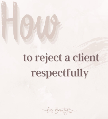 How to reject a client respectfully.
